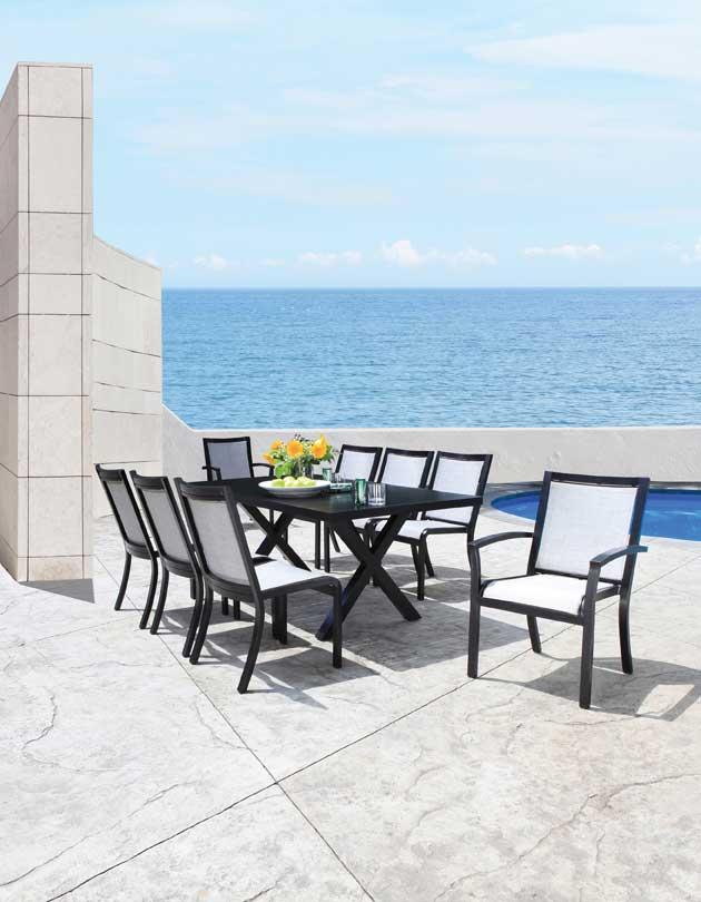 Chaises de terrasse avec Tissus Sling